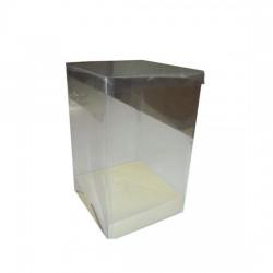 Διάφανο κουτί με χάρτινη βάση 18x18x25εκ.