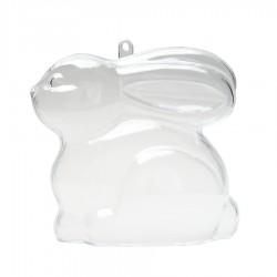 Λαγός πλαστικός διάφανος καθιστός 9x9εκ.