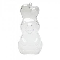 Λαγός πλαστικός διάφανος όρθιος 6,5x13εκ.