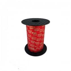 Ξυλοκορδέλα κόκκινη χριστουγεννιάτικη 10mm με ευχές 150μ.