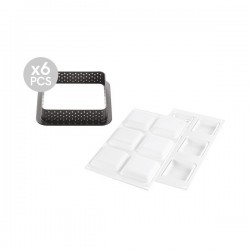 Kit tarte ring square 80x80mm
