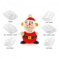 Καλούπι σοκολάτας 3D Santa Kit