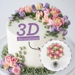 Μύτη κορνέ Daisy μαργαρίτα 3D-No31