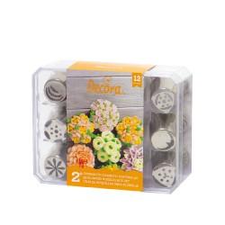 Μύτες κορνέ για λουλούδια 3D σετ 12τεμ.-No1