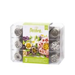 Μύτες κορνέ για λουλούδια 3D σετ 12τεμ.-No3