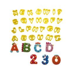 Κουπάτ γράμματα & αριθμοί σετ 36 τεμ.-2x1,6εκ.