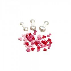 Σφραγίδες καρδιές σετ 3 τεμ.