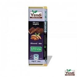 Σοκολάτα αμυγδάλου stevia
