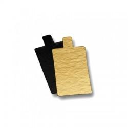 Δισκάκι πάστας χάρτινο παραλληλόγραμμο μαύρο εκ.-100τεμ.