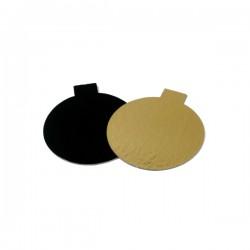 Δισκάκι πάστας χάρτινο στρόγγυλο μαύρο 9εκ.-100τεμ.