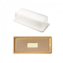 Δίσκος χρυσός με καπάκι 15x30εκ.