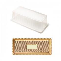 Δίσκος χρυσός με καπάκι 15x35εκ.