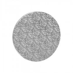 Δίσκος στρόγγυλος 1.2εκ ασημί 30εκ.