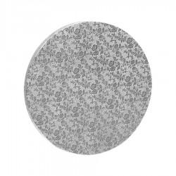 Δίσκος στρόγγυλος 1.2εκ ασημί 35εκ.