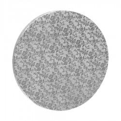 Δίσκος στρόγγυλος 1.2εκ ασημί 40εκ.