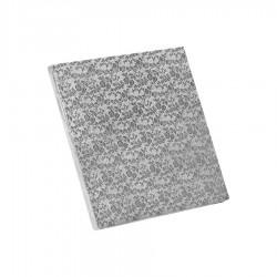 Δίσκος τετράγωνος 1.2εκ ασημί 30x30εκ.