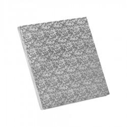 Δίσκος τετράγωνος 1.2εκ ασημί 35χ35εκ.