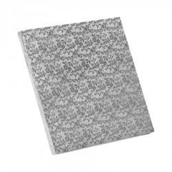 Δίσκος τετράγωνος 1.2εκ ασημί 40x40εκ.