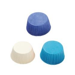 Καραμελόχαρτα λευκά-γαλάζια-μπλε 75τεμ.