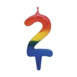Κερί γενεθλίων τρίχρωμο Νο2