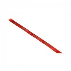 """Κορδέλα σατέν κόκκινη """"Καλή Χρονιά""""13mm - 20μ."""
