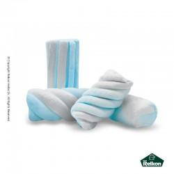 Marshmallow twist λευκό - σιέλ 1kg
