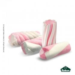Marshmallow twist λευκό - ροζ 1kg